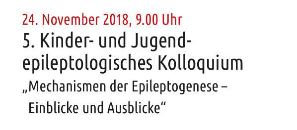 5. Kinder- und Jugendepileptologisches Kolloquium, Neuruppin (D)