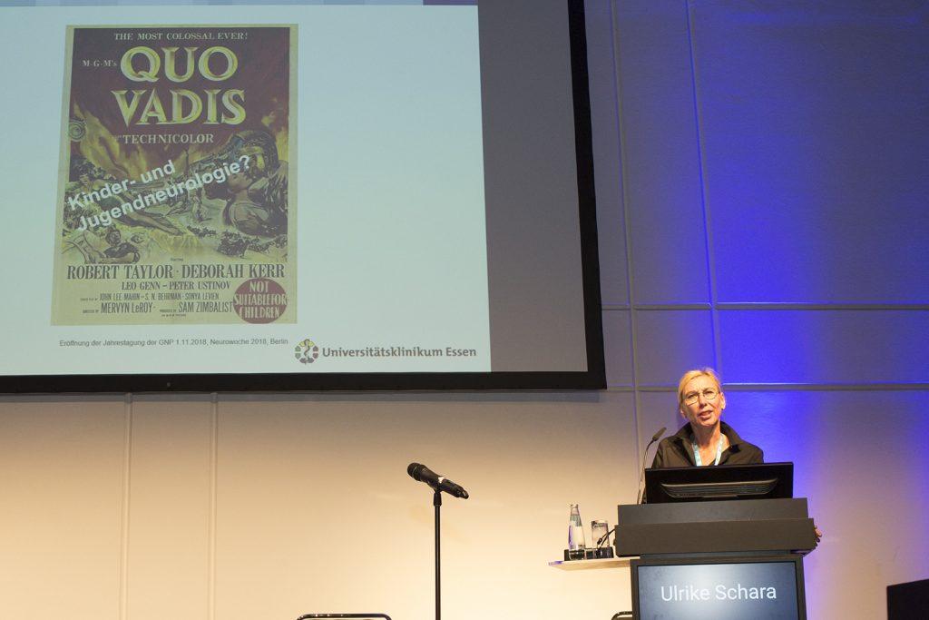 Prof. Dr. Ulrike Schara (Essen), Präsidentin GNP: Quo Vadis Neuropädiatrie? (Berlin, 01.11.2018)
